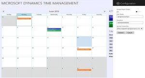 Microsoft Dynamics Time Management app