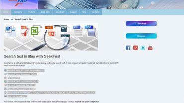 seek fast file search website
