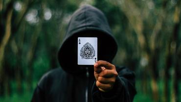 magician doing card trick