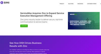 zinc app website