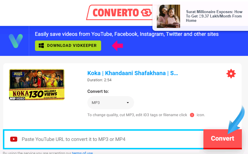 Download YouTube Video - Converto