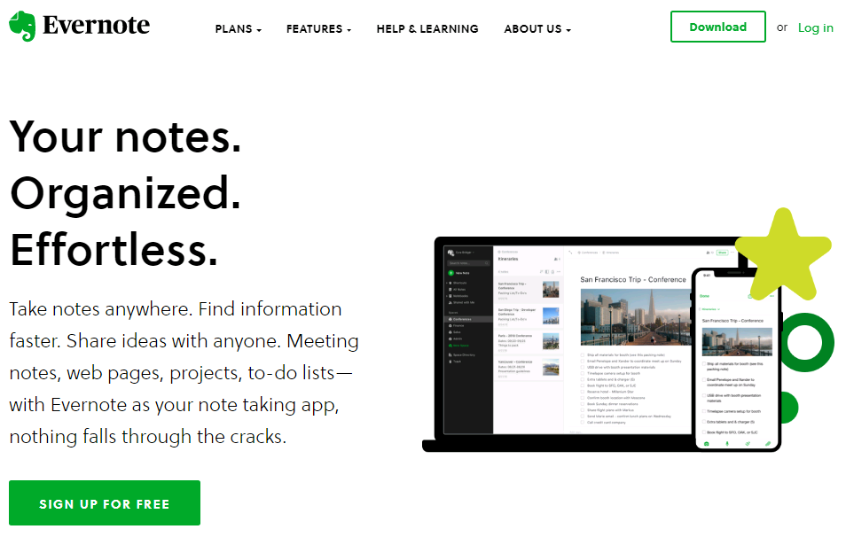Evernote - Best Writing Apps - Touchdroid