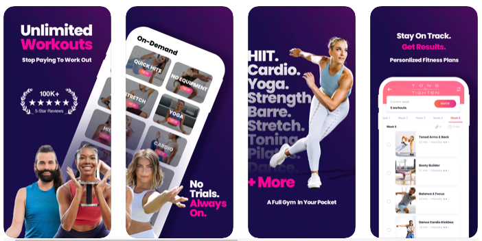 FitOn Fitness Workout Plans App Review - Best Workout App - Team Touch Droid
