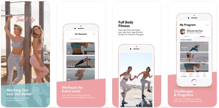 Tone It Up App Review- Best Workout App - Team Touch Droid
