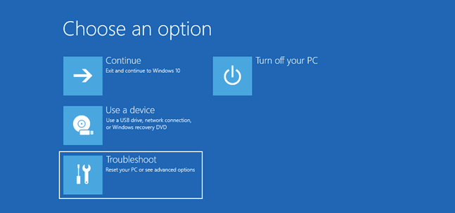 Start Windows 10 in Safe Mode- team touch droid