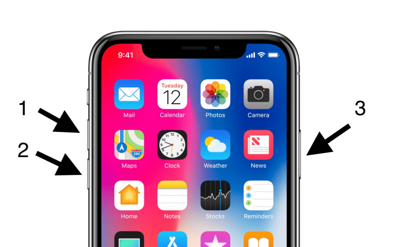 resetting iPhone XR with hard method