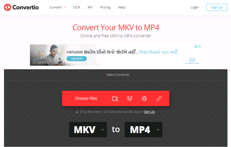 Convertio - Convert MKV to MP4 file online
